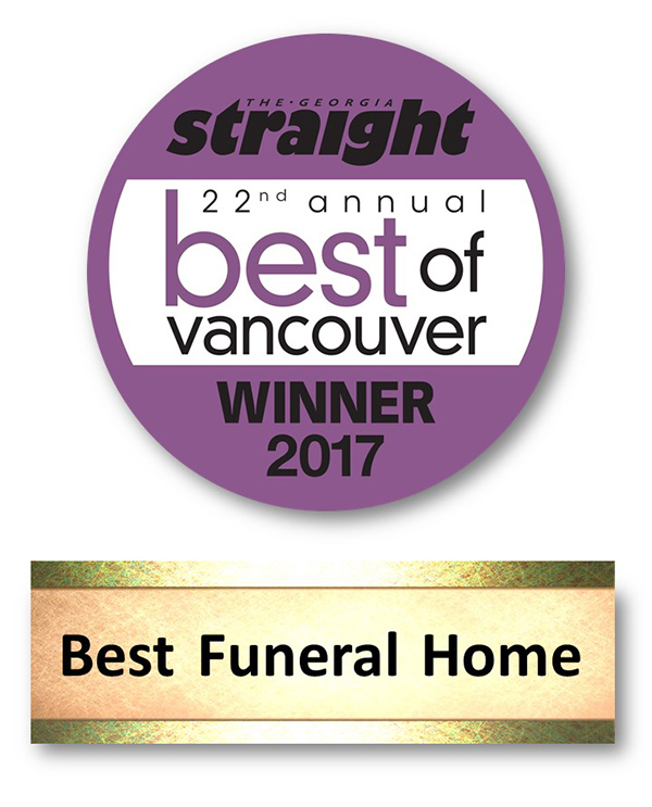 Best of Vancouver 2017 Winner - Funeral Home Category